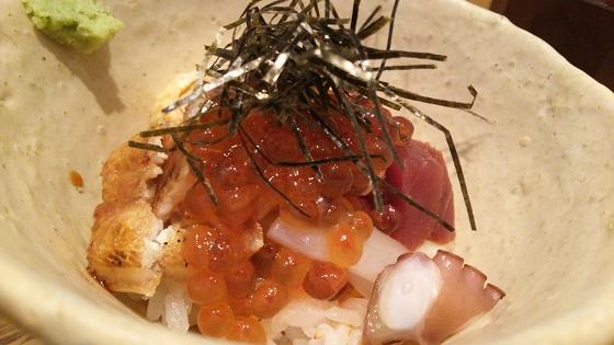 温玉入り海鮮寿司